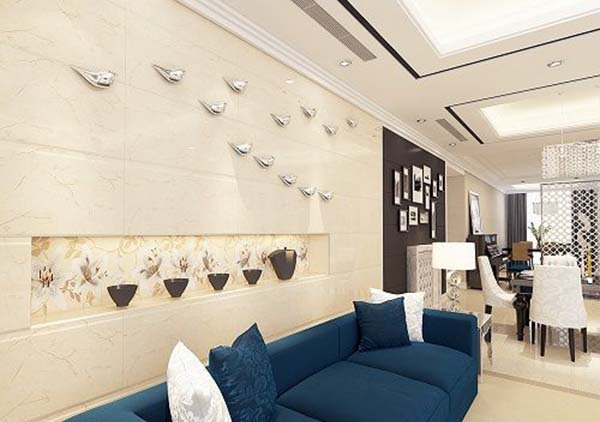 Mẫu gạch ốp tường 30x60 ấn tượng cho phòng khách